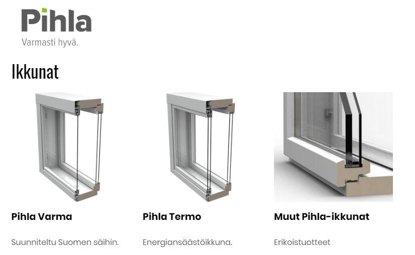 Pihla ikkunat Klassikko Suomi Oy